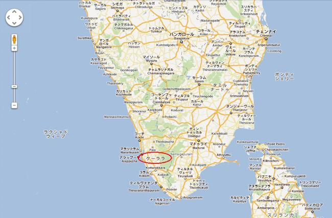 ケララ地図