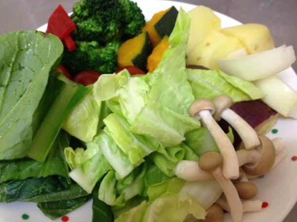 野菜ソースコカレー野菜ラインナップ