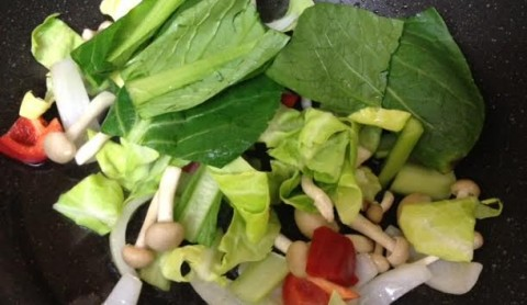 野菜ソースコカレー合体2