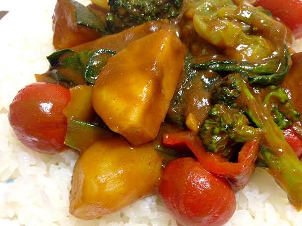野菜ソースコカレーアップ