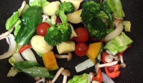 野菜ソースコカレー合体3